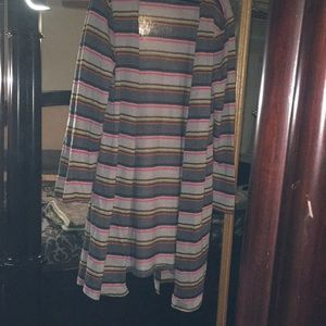 Long Sleeve, Colorful, Striped, Oversized Cardigan
